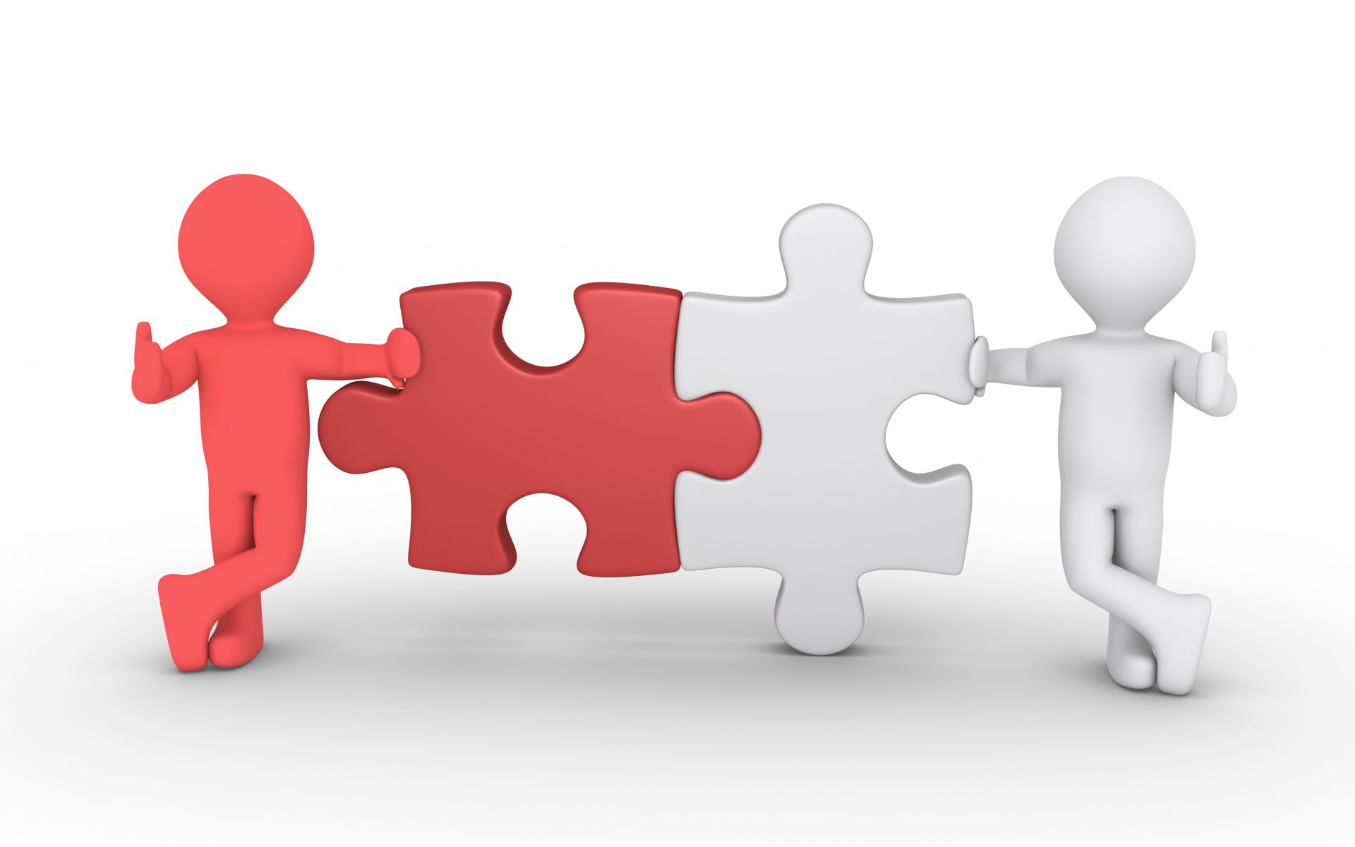Two puzzle connection concept
